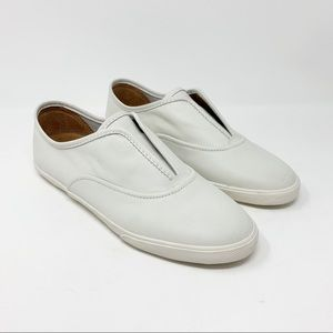 Frye Mindy white slip on leather sneakers
